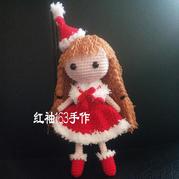 圣诞娃娃 钩针圣诞女孩文字图解教程