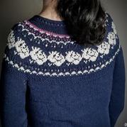 Vintage Rose Pullover复古棒针玫瑰提花毛衣