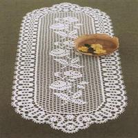 钩针长方形桌布
