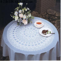 钩针圆形桌布