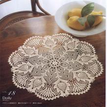 钩针八边形菠萝桌布