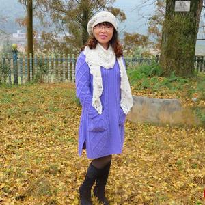 灿灿 棒针羊绒女士休闲宽松美裙