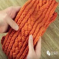 手把手教你织麻花围巾 一起学习如何左手带线织麻花围巾