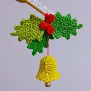 圣诞节装饰之钩针圣诞风铃铛钩法图解
