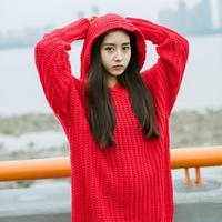2016元旦新年时尚红色毛衣款式与搭配(1)长款毛衣、连衣毛线裙