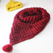 圣诞浆果围巾 棒针毛球围脖织法视频教程