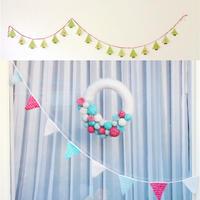 2款节日装饰之钩针三角旗 零线创意编织