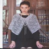 棒针编织时尚镂空披肩