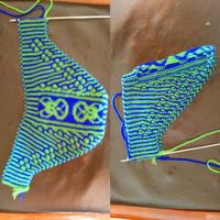 毛线棉鞋鞋面的编织教程及过程图 毛线棉鞋织法