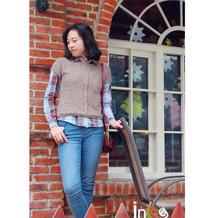麦穗 衬衫最佳拍档棒针滑肩短款春秋毛衣
