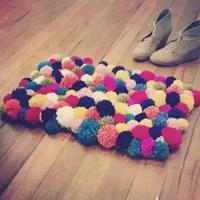 美美的毛线球毛毯 零基础也可以弄出的毛毯