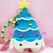 Lalylala四季娃娃圣诞特别版xaver圣诞树钩法文字图解