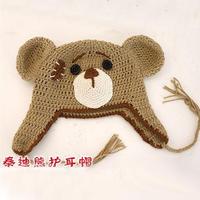 泰迪熊护耳帽 钩针小熊护耳帽视频教程