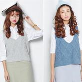 时尚毛线编织马甲背心 秋冬季搭配必备单品
