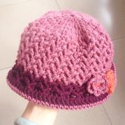 云柔经典合股钩适用于中老年妇女秋冬季戴用的帽子