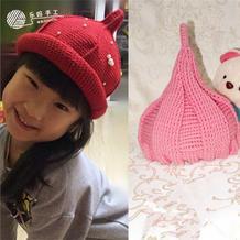 钩针奶嘴帽的2种钩法 最全流行奶嘴帽尖尖帽织法(一)