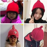 棒针奶嘴帽的4种钩法 最全流行奶嘴帽尖尖帽织法(二)