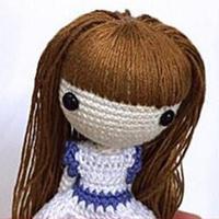 钩针人偶发型的制作技巧(7)毛线玩偶头发制作教程