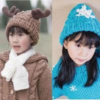 尖顶麻花帽织法(2-1)雪花及鹿角装饰棒针尖顶麻花帽织法视频教程