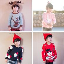 圣诞系列毛衣主体织法(3-2)儿童卫衣款棒针圆领毛衣织法视频教程