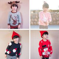 圣诞系列毛衣袖子及缝合(3-3)儿童卫衣款棒针圆领毛衣织法视频教程