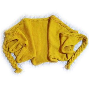 金色幸福 棒针麻花月形围巾披肩