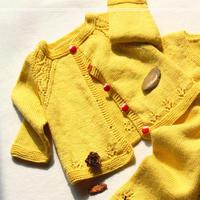 龙宝宝之萌瑒 迈乐宝宝开衫萌芽棒针婴幼儿小开衫