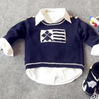 时光机(3-3)0-3岁棒针男童肩开扣套头毛衣视频教程 编织人生经典羊毛线作品