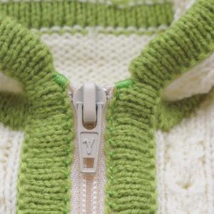 给毛衣上拉链的好方法 棒针编织技巧教程