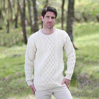 经典毛衣之男士爱尔兰阿兰毛衣