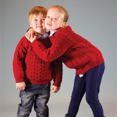 三九寒天為寶寶來一款溫暖羊毛阿蘭毛衣