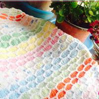 简单好织棒针彩毯编织方法