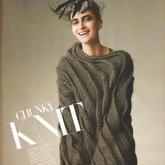 风格迥异8款冬季女士棒针粗针织大毛衣