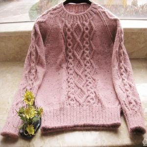 女士套头毛衣款式_轻盈 浅色休闲女士棒针插肩套头毛衣-编织教程-编织人生