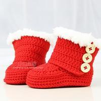 婴儿雪地靴(2-2)婴儿鞋高筒靴钩法视频教程 宝宝鞋加防滑布方法
