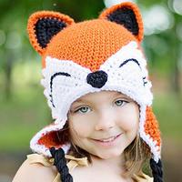 笑笑狸帽子(2-1)儿童钩针护耳帽钩法视频教程  狐狸耳朵和脸部等的钩法