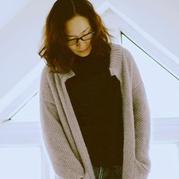 未来之旅 简约大气女士棒针双层效果外套开衫毛衣