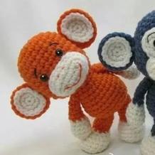 2016猴玩偶 钩针萌猴文字图解