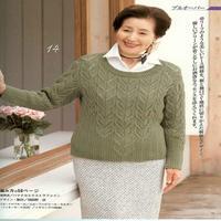 设计别致的棒针镂空花女士套头毛衣