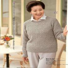 厚实的棒针保暖女士套头毛衣