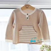 米粒 宝宝圆领毛衣(5-5)萌芽婴幼儿圆领套头毛衣织法视频教程