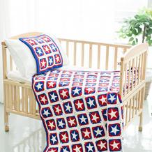 新妈咪手作美国队长五星花样毯编织教程 毯子教程