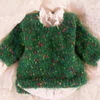 绿·复苏 女童花式纱线棒针简约百搭毛衣