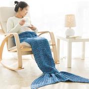 美人鱼睡毯 鱼尾毯钩法视频教程