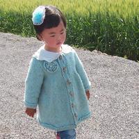 女童棒针毛呢外套裙衣(3-3)儿童毛衣编织视频 钩针立体花钩法