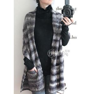 温度感十足时尚度满分 棒针布鲁斯围巾披肩