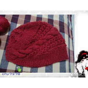 天冷了织给妈妈和婆婆的帽子 编织毛线帽子详细织法教程