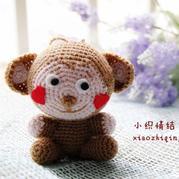 萌萌猴 新年吉祥物钩针猴玩偶图解