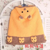 熊熊斗篷(3-1)棒针儿童连帽斗篷披肩编织视频教程