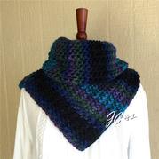舒馨 简单易织别致温暖冬日棒针粗线脖套